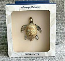 New listing Tommy Bahama Metal Sea Shell Body Turtle Wine Bottle Stopper Ocean Sea Life
