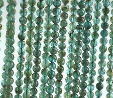 4MM AQUA BLUE APATITE GEMSTONE GREEN BLUE GRADE A ROUND LOOSE BEADS 16""