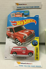 '67 Austin Mini Van #175 * RED * 2016 Hot Wheels * H115