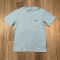 Patagonia Mens Small Blue Responsibili-tee Pocket T Shirt Mountain Graphic