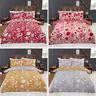 Woodland Rabbit Flowers Reversible Duvet Quilt Cover Bedding Set & Pillowcases