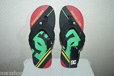 TONG DC SHOES CENTRAL GRAFFIK 39 /US 7/UK 6 NEUF SKATE SHOES/CLAQUETTE FLIP FLOP