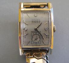 Gruen Curvex Precision Wristwatch 14 Karat Yellow Gold with Diamonds