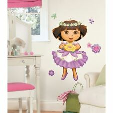 DORA Enchanted Forest Princess BiG Wall Stickers Mural Flowers Room Decor Decals