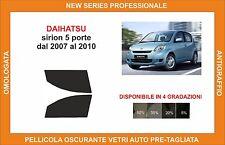 pellicola oscurante vetri dahiatsu sirion 5p dal 2007-2010 kit anteriore