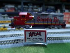 N Scale Custom Painted Kato GP35 in ATSF passenger colors