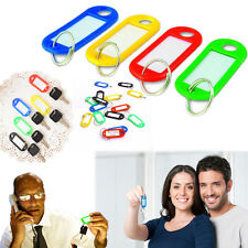 Dazzling Toys Plastic Key Tags with Label Window 10 Pieces Assorted Color Tags
