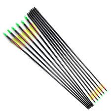 "12PCS 30"" Fiberglass Arrow Shaft Bohning Nocks 3"" Vanes for Compound Bow Hunting"