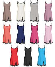 Negligee Nachthemd Trägerkleid Unterkleid Babydoll Emma 34 36 38 40 42 44 46