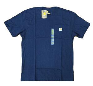 New Carhartt Men's Navy Workwear Pocket T-shirt Tee Sz Medium