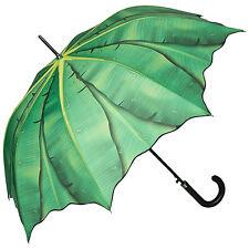 Regenschirm UV-Schutz Bananenblatt grün Palme Kunst Damen Herren elegant 5602A