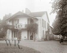 1920 1930 - Pays Basque St Jean LUZ - Photo Plaque de verre Stereo 6x13cm Ferme