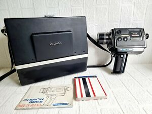 Vintage Chinon Camera 805 S Direct Sound & carrying case