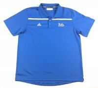 Adidas Mens Size XL UCLA Bruins Blue Polo Shirt Climalite Polyester