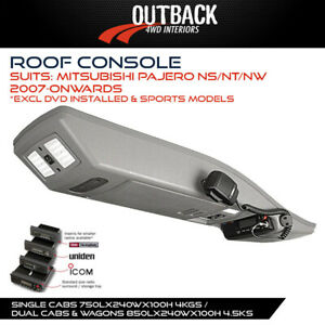 Outback Roof Console Fits Mitsubishi Pajero NS NT NW 2007-On (exc Dvd Installed)