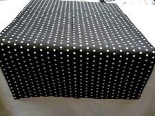 Tischläufer Tischdecke Tischset 45x153cm oder kürzer schwarz weiße Punkte modern