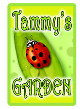 """PERSONALIZED GARDEN SIGN """"YOUR NAME"""" Beautiful COLOR Glossy ALUMINUM SIGN lady88"""