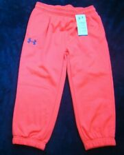 NWT UNDER ARMOUR GIRLS COLD GEAR NEON ORANGE CAPRI SWEAT PANTS SIZE YLG LARGE