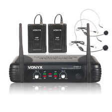 2  Channel VHF Wireless Radio Headset Fitness Dance Aerobics Microphone System