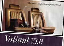 1967 CHRYSLER VE VALIANT VIP Australian Brochure - Sedan Safari Wagon - DAMAGED