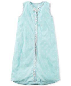 Carter's Polka Dot & Floral Fleece Sleep Bag Sack Baby Girl 0-3 Months Small NEW