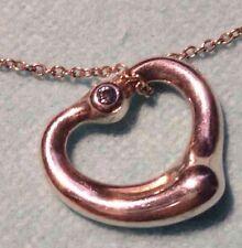 NWOT Tiffany Open Heart Peretti Aquamarine March Birthstone! So hard to find!