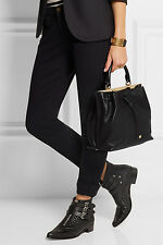 100% AUTH NWT $1700 MULBERRY Kensington Black Small Textured Leather Bag Handbag
