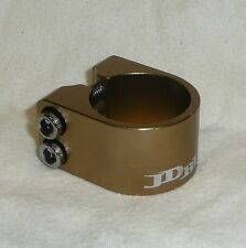 JD BUG 2 BOLT ALLOY CLAMP FOR ORIGINAL PRO & STREET SCOOTER BARS BRONZE TITANIUM