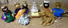 Plush Nativity Set Mary Joseph Jesus 3 Kings Shepherd Angel Camel DMCP Co. 9 pc