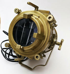 Vintage Theater Stage Nautical Spotlight  Industrial Nautical Lamp