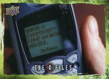 X Files UFOs & Aliens Sticker Card S-77 Three Words - Federal Statistics Center