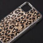 iPhone 13 / 13 Pro Max - Floating Glitter Liquid Waterfall Case Leopard Cheetah
