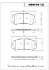 Napa TruStop D76 Semi-Metallic Brake Pads