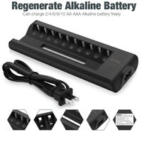 EBL 10-Slots Alkaline Battery Charger for AA AAA Disposable Single Use Batteries