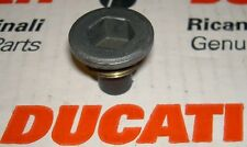 1960's-on Ducati OEM plated brass magnetic drain plug 0660-49-053 original