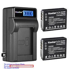 Kastar Battery LCD Wall Charger for Panasonic CGA-S007 Panasonic LUMIX DMC-TZ3K