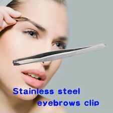 1PCS Lady Stainless Steel Eyebrow Face Nose Hair Clip Tweezer