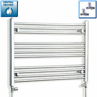 850mm Wide 600mm High Straight Chrome Heated Towel Rail Radiator Wide Bathroom*