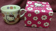 Hello kitty Face Mug Cup SANRIO  from JAPAN 1992 in box