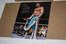 "JAKE ""THE SNAKE"" ROBERTS SIGNED WWE WWF 8X10 PHOTO HALL OF FAME W/DAMIAN"