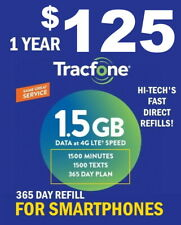 TRACFONE $125 FASTEST REFILL -->> DIRECT to PHONE 🔥365 DAY🔥 GET IT TODAY!🔥