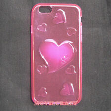 "FUNDA TAPA GEL TPU CUSTODIA PARA IPHONE 6 4.7"" TRANSPARENTE DIBUJO CORAZONES"