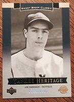 2003 JOE DIMAGGIO - SWEET SPOT CLASSICS #'D/1500 - NEW YORK YANKEES HERITAGE