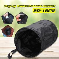 Pop Bin Up Car Storage Waste Rubbish Dustbin Basket Oxford Cloth Black  Q