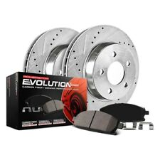 Power Stop CRK6667 Coated Rotor and Ceramic Brake Pads-Rear