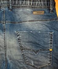 ORIGINAL DIESEL USED JOGG-JEANS KROOLEY-NE SLIM SKINNY SWEAT PANTS BLUE W 36 XL