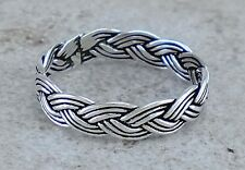 925 STERLING SILVER 5mm WOVEN BRAIDED BAND RING size 10  style# r2390