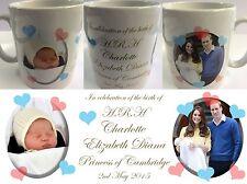 PRINCESS CHARLOTTE ELIZABETH DIANA #2 - ROYAL BABY MUG CUP - WILLIAM KATE DI