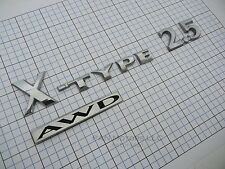 Jaguar X-Type 2.5 AWD 2002 - 2008 rear trunk emblem logo Factory Genuine set