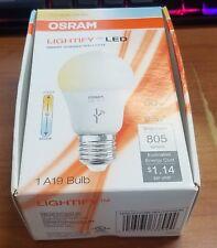 Sylvania Osram Lightify 60 Watt A19 Tunable White Smart Home LED Light Bulb